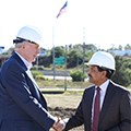 Mayor Barrett and CEO Rajendra