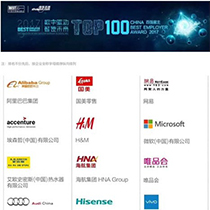 Top 100 China Best Employer 2017